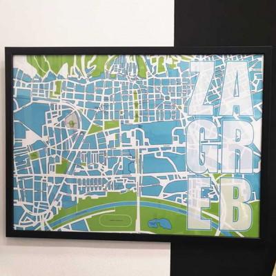 Poster Zagreb - plan grada