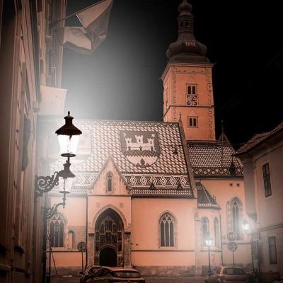 Zagreb digital art - crkva Sv. Marka